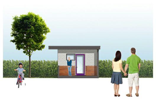Pequeña casa de un dormitorio y 43 metros cuadrados
