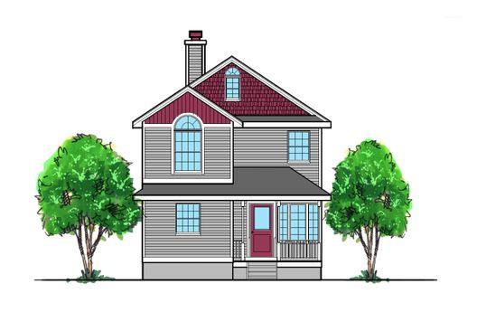 Casa de madera de dos pisos, cuatro dormitorios y 142 metros cuadrados