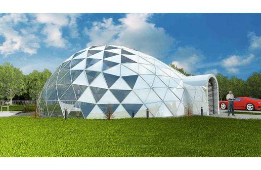 Casa bio-domo de 118 metros cuadrados