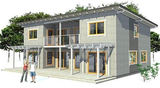 Planos de casas de dos plantas y tres dormitorios gratis for Casa moderna 3 habitaciones