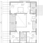 Plano en dos dimensiones de la planta alta