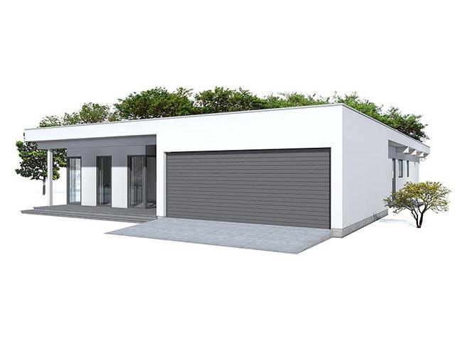 Moderna Casa De Una Planta Tres Dormitorios Y 215 Metros