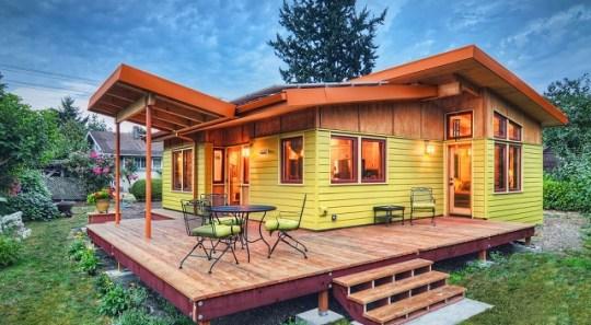 Pequeña y moderna casa de campo de dos dormitorios y 74 metros cuadrados