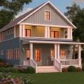 casa de dos plantas y tres dormitorios