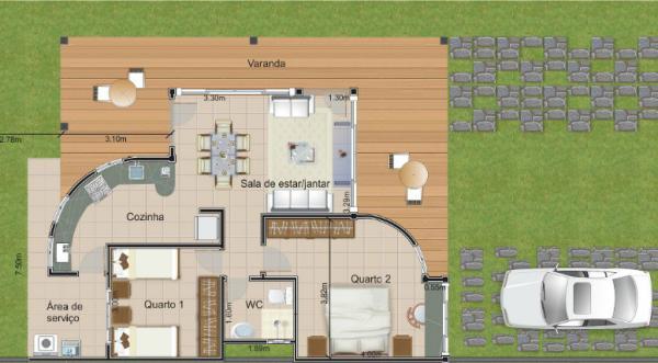 Casa de fin de semana de dos dormitorios y 97 metros - Casa de fin de semana ...