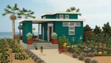 Casa de playa de dos plantas y dos dormitorios
