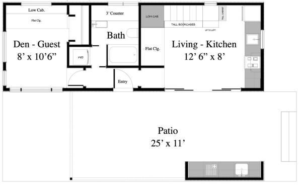 plano planta bajaCasa de playa de dos plantas y dos dormitorios