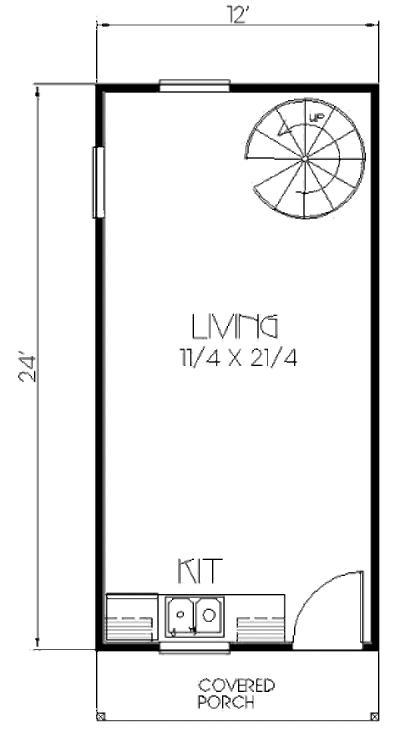 plano planta baja duplex 53 metros cuadrados