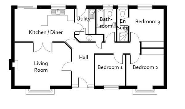 plano casa de 3 dormitorios y 96 metros cuadrados