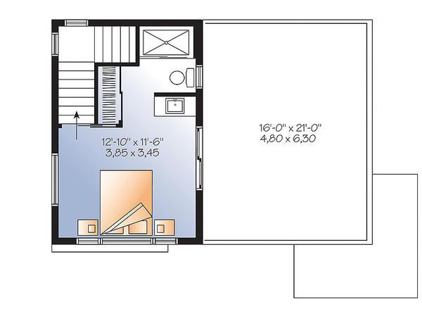plano planta alta casa de dos písos y 86 metros cuadrados