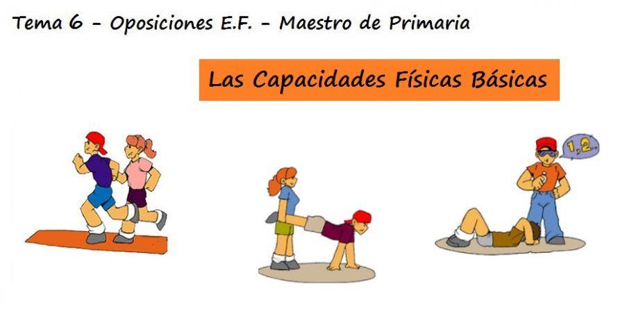 TEMA 6: Capacidades Físicas Básicas, su evolución y factores que influyen en su desarrollo (Maestro de Primaria)