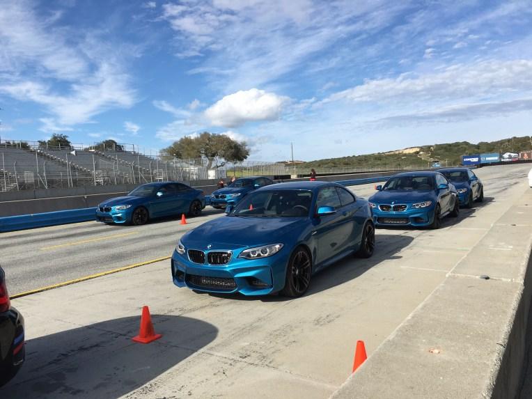 BMW M2 Coupe Laguna Seca Startaufstellung