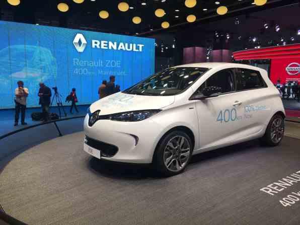 Renault - Zoe mit 400 Kilometer E-Reichweite