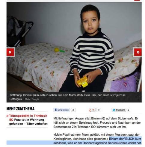 Eine Meisterleistung des Journalisten: Das Interviewen eines Kindes nach einem Verbrechen.