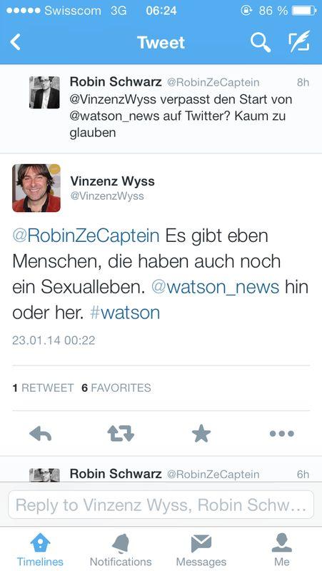 Watson ist zwar geil, aber Sex ist halt noch immer besser.