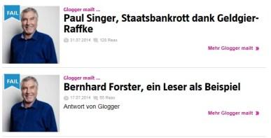 FAIL heisst bei Glogger: Für alle Involvierten lustig.