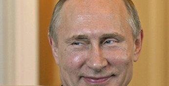 Strahlt wieder wie der alte Reaktor von Tschernobyl zu seinen besten Tagen: Vladimir Putin. Bild: AP/Kyrgyz President Press Service