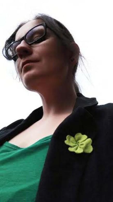 Selfie DIY St Patricks DAY Felt Shamrock