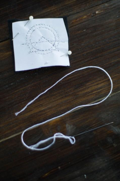 Kette Sticken DIY Schmuck geometrisch_-6