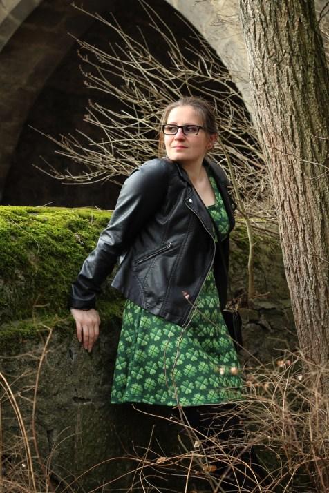 Kleid St Patricksday grün kleeblatt 1