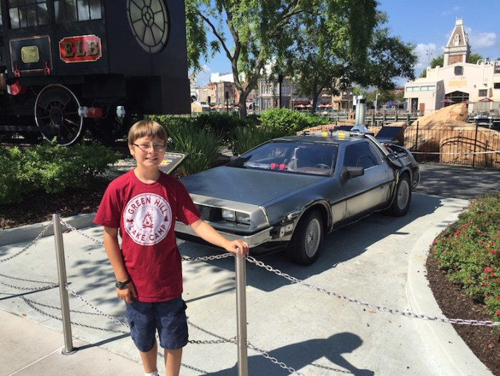 Posing with the DeLorean