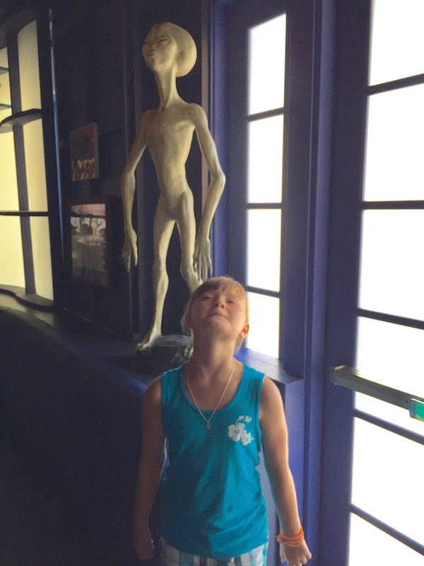 Alien Pose at Classic Monsters Cafe