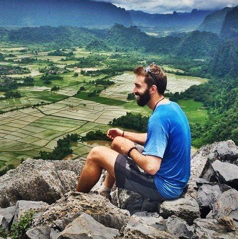 Derek Loudermilk Vang Vieng, Laos