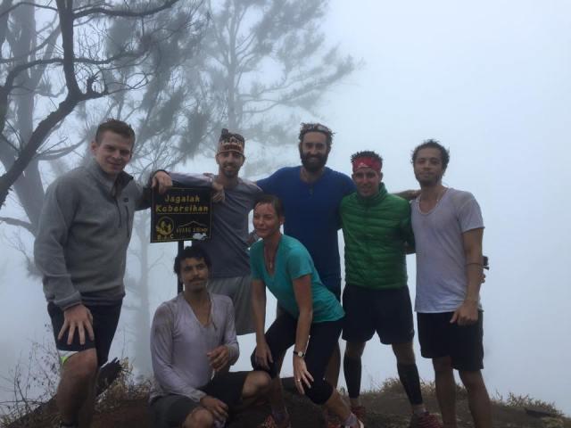 Celebrating our World Record on Mount Abang, Bali