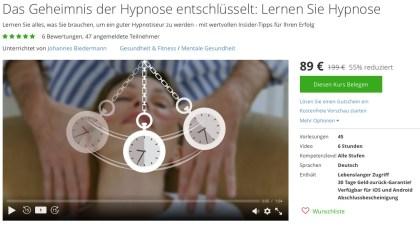 Hypnose günstig online lernen