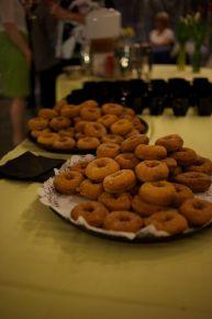 Indian Ladder Farms warm cider doughnuts