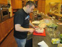 derryX butchering pork shoulder