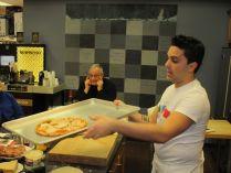 Baked pizza margherita