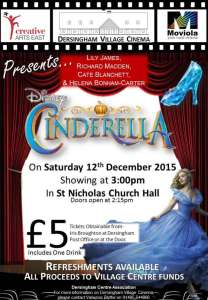 film cinderella at dersingham village cinema