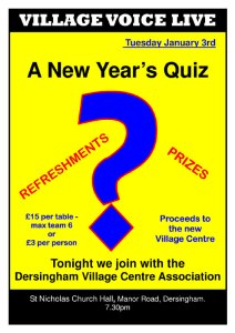 Poster for New Year Quiz