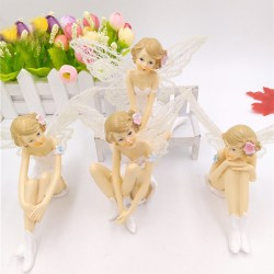 White Angel Flying Flower Fairy Ornaments Home Decoration Cartoon