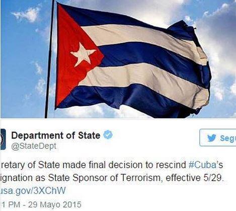 EUA tira Cuba da lista de países patrocinadores do terrorismo