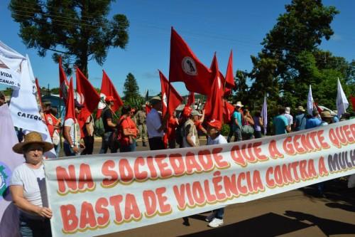 Organizações urbanas e camponesas fazem mobilização em São Miguel do Oeste/SC nesta terça, dia 08