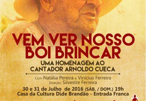"""Espetáculo """"Vem ver nosso Boi Brincar"""" estreia em Itajaí"""