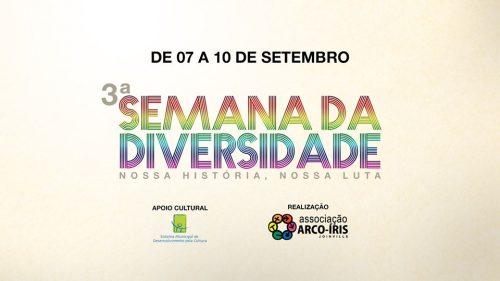 Joinville terá terceira edição da Semana da Diversidade em setembro