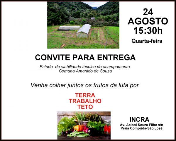 Estudo de viabilidade técnica de Acampamento Amarildo de Souza é entregue no INCRA nesta quarta (24)