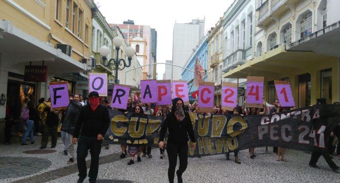 Fotovídeo Galeria: Ato Ocupa Tudo! Contra a PEC da morte e a reforma do ensino médio!