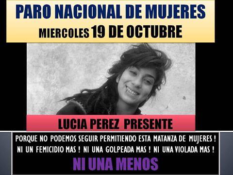 Convocam paralisação nacional de mulheres na Argentina por feminicídio de Lucía Pérez