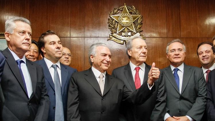 Presidente Michel Temer durante sua posse no Senado Federal. (Brasília - DF, 31/08/2016) Foto: Beto Barata/PR