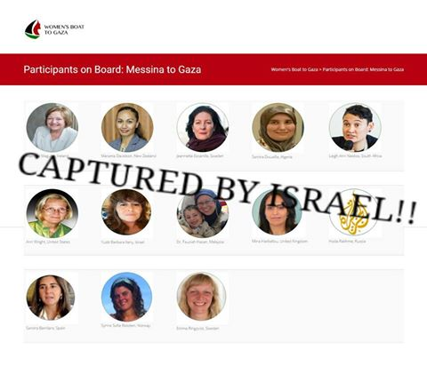 Israel ataca barco de mulheres rumo a Gaza