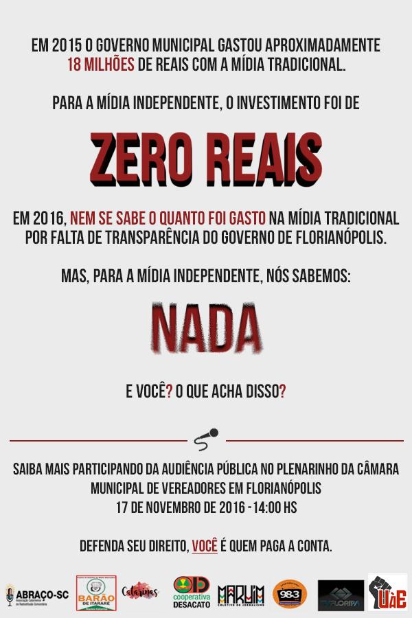 Audiência Pública sobre Comunicação Independente em Florianópolis