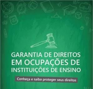 DPU publica cartilha com direitos dos estudantes que participam de ocupações
