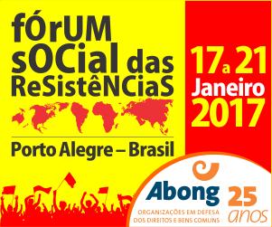 2017 tem Fórum Social das Resistências
