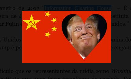 Trump é comunista! (um golpe contra a verdade)