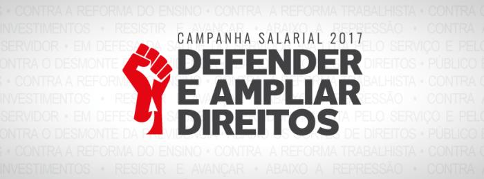 Campanha Salarial 2017 dos servidores de Joinville, Garuva e Itapoá