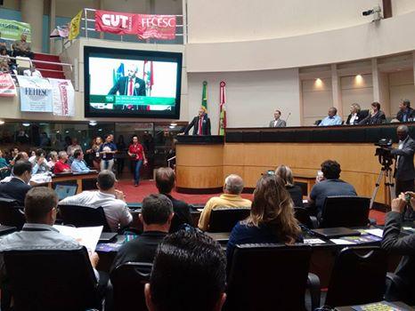 Audiência Pública na Alesc sobre a Reforma da Previdência com o senador Paulo Paim